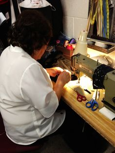 #Wardrobe malfunctions do happen... good thing our #seamstress is here to help fix a guest's #Oscar gown