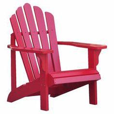 """Beautifully crafted of cedar wood, this classic Adirondack chair makes the perfect addition to your three-season porch or patio.  Product: ChairConstruction Material: Yellow cedar woodColor: Tomato redFeatures:  Natural resistance to moisture, decay, and insect damageRust resistant galvanized steel hardwareWeather resistant oil based paintSuitable for indoor and outdoor use Dimensions: 36"""" H x 28.25"""" W x 35"""" DAssembly: Some assembly required"""