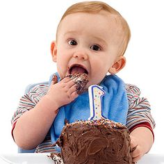 "Neat Idea- Consider doing the fun part the night before. Strip Baby down to a diaper and let him experience his first piece of cake. Then, if he's too thrown off during the party to enjoy the ""real"" cake, you won't feel disappointed."