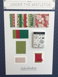 Stampin' Up! 2018-2019 Annual Catalog Under the Mistletoe Suite of Products OnStage Sample Board.  Shop Online with Stesha Bloodhart, Stampin' Hoot! #onstage2018 #stampinhoot #steshabloodhart