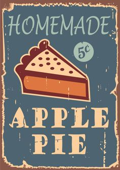 A vintage sign for apple pies!