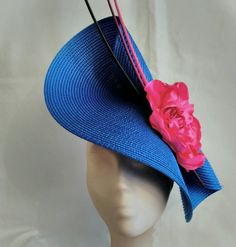 Pink and blue fascinator royal blue fascinator pink by Tocchic