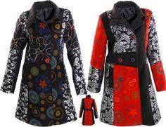 3ebedf2bc6a0 Lagenlook Women Trenchcoat Patchwork Damen Mantel Jacke schwarz Wolle Gr 38  40 M   eBay