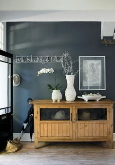 Charcoal feature wall