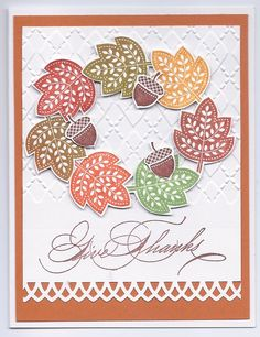 SU Day of Gratitude Stamp Set, Sentiment from Hand Penned Holidays stamp set, Cuttlebug embossing folder,  MS border bunch