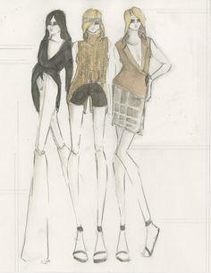 Fashion illustration - fashion design sketches // Katherine Owen