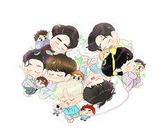 Got7 Fanart, Chibi, Minnie Mouse, Disney Characters, Fictional Characters, Fan Art, Cartoon, Anime, Kpop