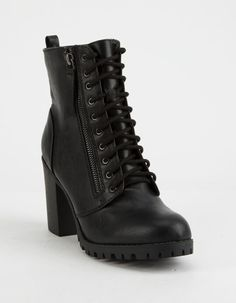 Women Boots Comfortable Boots Sexy Long Boots Cowboy Boots And Shorts Outfits High Brown Boots Outfits Black Heeled Combat Boots, Cute Combat Boots, Black Wedge Boots, Black High Heels, Black Booties, Ankle Booties, Black Lace Boots, Buckle Boots, Leather Booties