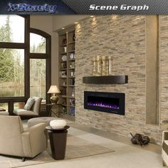 Xbeauty Electric Fireplace in-Wall Recessed and Wall Mounted Fireplace Heater and Linear Fireplace with Timer/Multicolor Flames/Touch Screen/Remote Control (Black) Mounted Fireplace, Linear Fireplace, Fireplace Heater, Bedroom Fireplace, Fireplace Inserts, Fireplace Wall, Wall Mounted Tv, Living Room With Fireplace, Fireplace Ideas