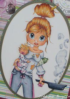 """Bricolage de Brigitte: Search results for saturated canary   Copics:  Hair: E39, YR24-21, Y21;  Skin: E21-00-000, R20;  Eyes: B97-93-91;  Lips: R05-02-000;  Hair  Baby: YR24, Y21-000;  Jog Suit: C5-3-1-00, RV66-63-""""61"""", YG67-63-61"""
