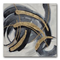 Shop for Benjamin Parker 'Black and Gold' 34-inch Hand-embellished Wall Art. Ships To Canada at Overstock.ca - Your Online Art Gallery Store!  - 19669501