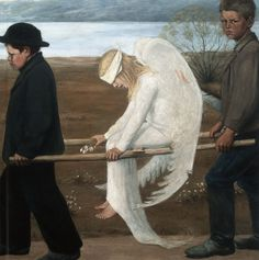 Hugo Simberg - Haavoittunut enkeli.