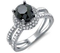 Diamond and Black Onyx ring