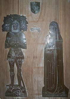 Leicestershire, Stockerston. 1493 Sir Henry Southill / Sothill and wife Anne