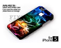 Apple on smoke colorful case for iPhone 4/4S iPhone 5 Galaxy S2/S3/S4 | FixCenter - Accessories on ArtFire
