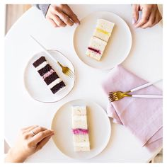 How scrumptious do these perfect morsels look! Wedding Cake doesn't need to be boring! Serve your desserts on our French Bisque crockery. Simple, yet stunning! Wedding Desserts, Wedding Cakes, Sample Box, Cake Tasting, Wedding Styles, Food Porn, Perth Australia, French, Weddings