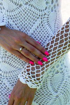 white crochet dress - It's Not A Romantic Set  #Lace #Dresses