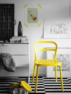 Gele stoel van IKEA. #yellow