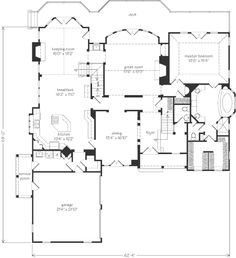 Gary ragsdale luberon southern living houseplans house for Southern living house plans with keeping rooms