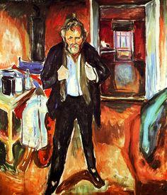 Sleepless Night. Self-Portrait in Inner Turmoil Edvard Munch - 1920