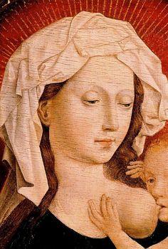 ❤ - Robert Campin (1375 - 1444) - La Virgen de la leche. Museo del Prado - Madri