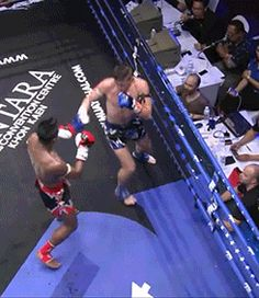 Muay Thai- NEVER EVER try a spinning back elbow on Buakaw. Big mistake...Huge!