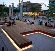 Platform bench // light cove detail