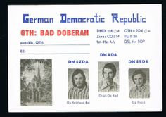 1976 QSL Ham Radio Card Germany German Democratic Republic DM4ZDA