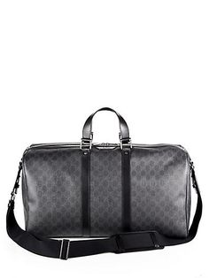 8fbc45d40d5 Gucci GG Duffel Bag Men's Totes, Leather Duffle Bag, Gucci Men, Gucci Bags