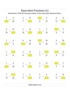 Awesome Math Worksheets Equivalent Fractions that you must know, Youre in good company if you?re looking for Math Worksheets Equivalent Fractions Fractions Équivalentes, Math Fractions Worksheets, 4th Grade Math Worksheets, Equivalent Fractions, Math Multiplication, 3rd Grade Math, Dividing Fractions, Number Worksheets, Algebra