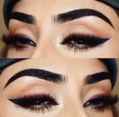 Just killer liner and lashes. All you need