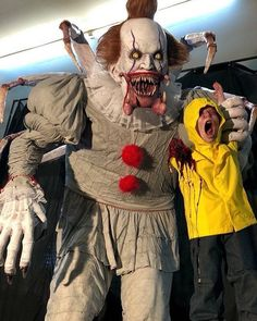 Another giant Pennywise eating Georgie... #pennywise #itmovie2017 #itmovie #horrormakeup #horrorfigures