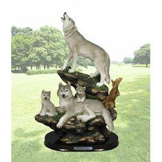 Beautiful Classic Wolf Figurine