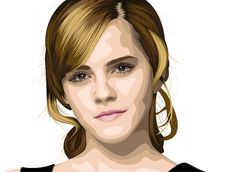 Vector Portrait - Emma Watson by AryaInk