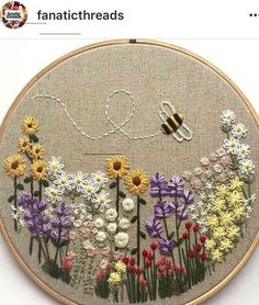 Wonderful Ribbon Embroidery Flowers by Hand Ideas. Enchanting Ribbon Embroidery Flowers by Hand Ideas. Embroidery Flowers Pattern, Simple Embroidery, Hand Embroidery Stitches, Silk Ribbon Embroidery, Embroidery Hoop Art, Crewel Embroidery, Hand Embroidery Designs, Embroidery Techniques, Embroidery Ideas