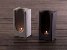 Tealight Totem in Concrete by Plywood Office by PlywoodOffice