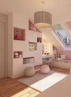 Design idea for a girl& room in a pink design Room 4 kids - Kids room - Girl - House interior - Design Room, Home Design, Design Design, Design Girl, Layout Design, Girl House, Pink Design, Girls Bedroom, Girl Rooms