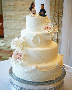 Consulta esta foto de Instagram de @delicatessepostres • 143 Me gusta Fondant, Wedding Cakes, Wedding Day, Instagram Posts, Kitchen, Desserts, Food, Deserts, Food Cakes