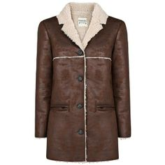 Mango Faux shearling lined coat (77,255 KRW) found on Polyvore  houseoffraser.co.uk