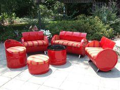 Salsa Indoor/Outdoor Garden Patio 6 Piece Conversation Drum Set Plus