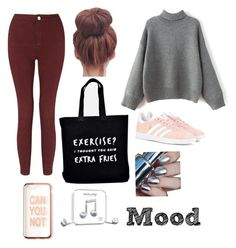 """Mood"" by stina999 on Polyvore featuring Miss Selfridge, Ellie Ellie, adidas Originals, Missguided and Happy Plugs"