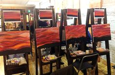 Recreating the image of the evening. Wine and paint night at Fresh Paint Studio + Cafe.