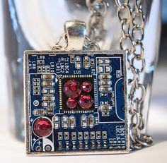 Circuit Board pendant  Motherboard Necklace  Computer by StyleByte