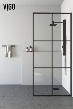 Welcome to the new wave of bathroom design. With a fresh look but the same great construction that built the original glass shower screen, The VIGO Ventana Fixed Frame Shower Screen is an updated take on a classic. Made from clear, solid tempered glass, the Ventana has 6 evenly split window-pane-like panels that have been painted to mimic metal frames.