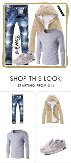 """""""Rosegal men 27"""" by merisa-imsirovic ❤ liked on Polyvore featuring men's fashion and menswear"""