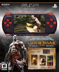 Game Console PlayStation Portable Limited Edition God of War Ghost of Sparta Entertainment Pack - Red/Black #Game Console #PlayStation