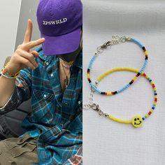 Beaded Bracelets Tutorial, Diy Bracelets Easy, Cute Bracelets, Handmade Bracelets, Fashion Bracelets, Bts Bracelet, Bracelet Crafts, Pulseras Kandi, Accesorios Casual