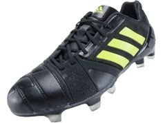 adidas Nitrocharge 1.0 TRX FG Soccer Cleats - Black with Solar Slime...Available at SoccerPro right now!