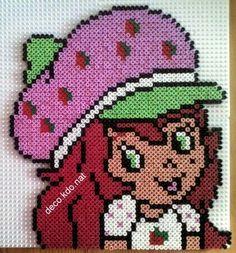 Strawberry Shortcake hama perler beads by deco.kdo.nat - Pattern: http://www.pinterest.com/pin/374291419001961800/