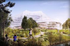 Google Campus in Mountain View is Inspired by Its Surroundings #placemaking trendhunter.com